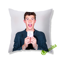 Shawn Mendes Keep Smiling Square Pillow Cover