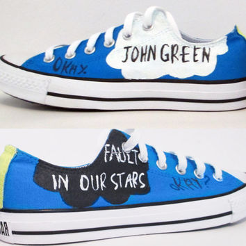 The Fault In Our Stars Handpainted Converse Shoes with Quotes