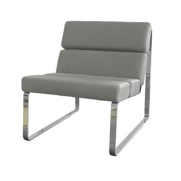 Angel Chair gray eco leather
