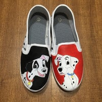 101 Dalmations Hand Painted Canvas Shoes (Generic Brand or Authentic Vans)