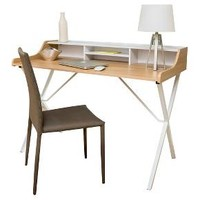 Aalto Computer Desk - Oak & White, Christopher Knight Home