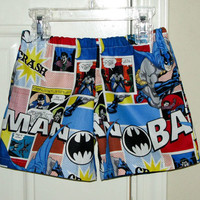 Batman Shorts3m 6m9m12m18m2T3T45 by MrsLaura30 on Etsy