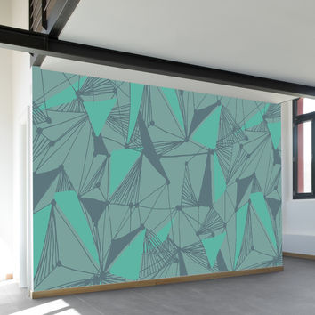 Seamless Geometric Pattern Wall Mural
