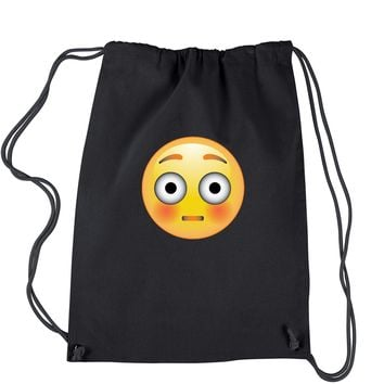 Color Emoticon - Surprise Smiley Drawstring Backpack