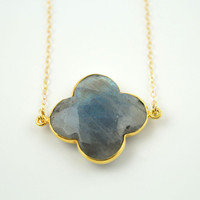 Labradorite Clover Necklace