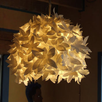 recycled milk bottle lamp shades