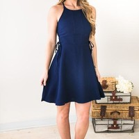 Scheme of Things Navy Fit and Flare Dress