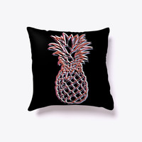 Tropical Hawaiian Pineapple Pillow