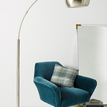 Silver Actoria Arc Floor Lamp