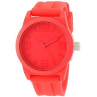 Kenneth Cole REACTION Women's RK2227 Street Round Analog Pink Dial Watch - designer shoes, handbags, jewelry, watches, and fashion accessories | endless.com