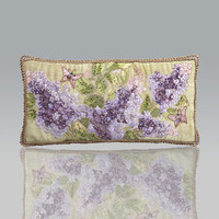 Jay Strongwater Lilacs Pillow