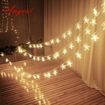 33FT 10M 100 fairy Lights String LED Christmas Tree Star Waterproof Romantic Lights ,wedding home garden patio decor 110v 220v