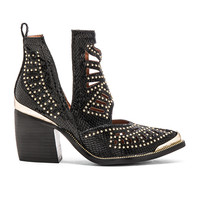 Jeffrey Campbell Maceo Booties in Black Snake Gold