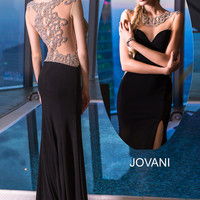 Cap Sleeve Jersey Dress 99085 - Prom Dresses