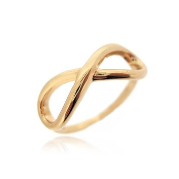 25% Reduced - INFINITY YELLOW GOLD RING