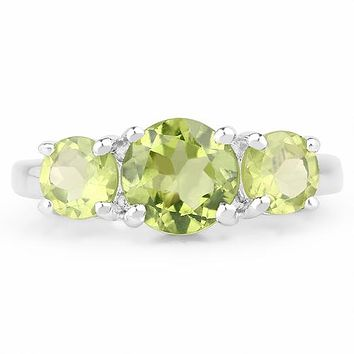 A Natural Green Peridot Journey Size 7 Ring