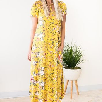 Darcy Floral Maxi Dress with Pockets