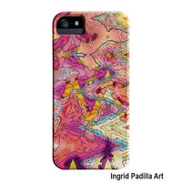 Artsy iPhone 5 Case, Artist, iPhone4 Case, pink, Funky, Abstract, Art, iPhone5 cases, by Ingrid, iPhone 5S case