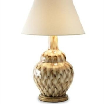 Bunny Williams Pheasant Feather Table Lamp | Brown