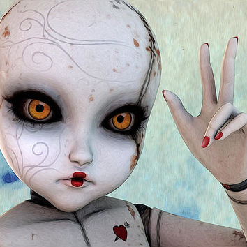 Ball Jointed Doll Digital Art by Liam Liberty - Ball Jointed Doll Fine Art Prints and Posters for Sale