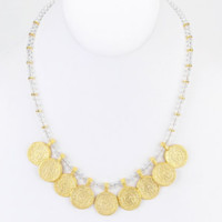 Turkish Coins Beaded Necklace