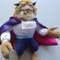Vintage Beauty and The Beast Plush 1991