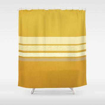 Colonel Mustard Shower Curtain by Bunhugger Design