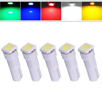T5 1 SMD Red Dashboard Wedge LED Car Light Bulb Lamp 74 dash led car bulbs interior Lights Car Light Source parking 12V