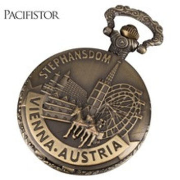 PACIFISTOR Pocket Watch Antique Vintage Quartz Pocket Wacthes Horse Steampunk Relogio De Bolso Gift For Mens Womens