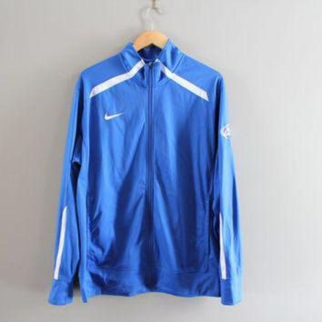 ESBYD9 US Free Shipping Nike Zip Up Sweatshirt Blue NFL Jersey Nike Football Jacket Sport Act