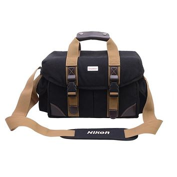 Vintage Canvas Camera Bag Shoulder Padded Insert Messenger for DSLR SLR Camera