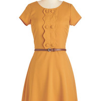 ModCloth 60s Mid-length Short Sleeves Full Recommendation Dress