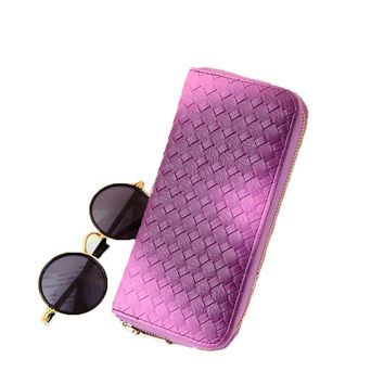 New Arrival Knitting PU Women Money Key Wallets Card & ID Holders Coin Purses Drop Shipping AY001