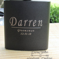 Personalized Flask for Anniversary, Flask Engraved for Men, Personalized Flask Groomsman, Custom Flask for Groomsmen, Groom Gifts