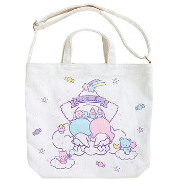 Buy Sanrio Little Twin Stars Sweets White Canvas 2-Way Tote Bag at ARTBOX