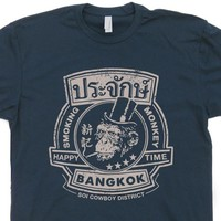 Smoking Monkey Bar T Shirt The Hangover Movie Shirt Bangkok Thailand Pub Tee Shirt