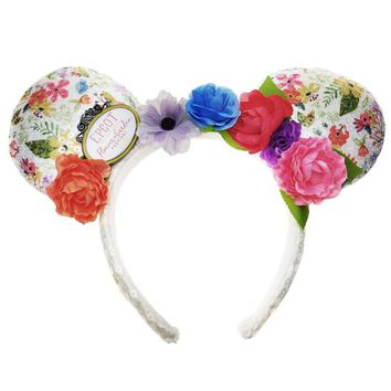 Disney Minnie Mouse Headband One Size Flower & Garden 2018 New with Tag