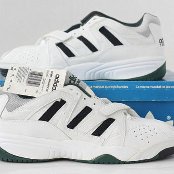 NEW Vintage Adidas Torsion Champion tennis shoes // Made in Indonesia // Deadstock Mens Trainers Sneakers - 1994 90s
