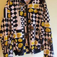 Women's Vintage 80's Rad Seashell Lightweight Windbreaker Jacket Sz. S
