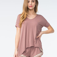 Others Follow Florence Womens Knit Tee Lilac  In Sizes