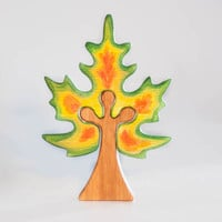 Waldorf wooden maple tree Tree puzzle Nature table play set Toddler toy Imaginative play Wooden trees Autumn