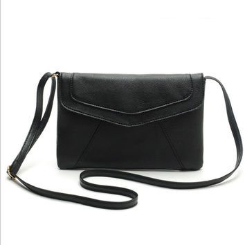 HOT! Vintage Small Women Bags Leather Messenger Bag Retro Envelope Bag Handbag and Purse Sling Crossbody Shoulder Bag Q-111
