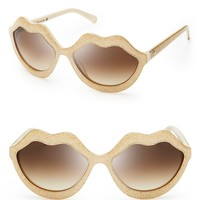 kate spade new york Seanna Oversized Lips Sunglasses | Bloomingdale's