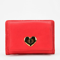 Cooperative Quilted Heart-Lock Wallet