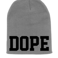 Gray DOPE Beanie Slouchy Knit Hat