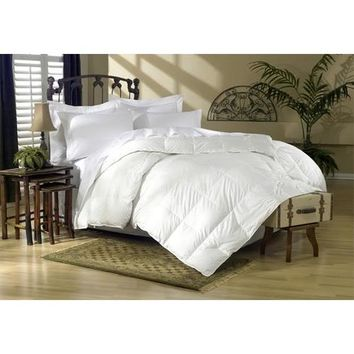 GoLinens Luxury High loft, All Year Down Alternative Hypoallergenic Comforter With Baffle Box Design - White Solid