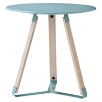 TOO by Blu Dot Daisy Accent Table - Blue Metal/White Wash