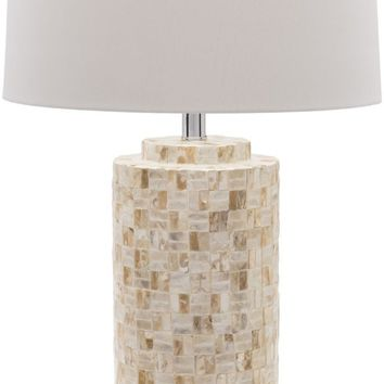 Greenway Coastal Table Lamp Shell Finish Beige