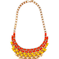 Color Festival Ombre Necklace in Yellow – bandbcouture.com