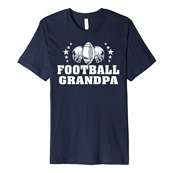 Football Grandpa T-shirt Helmets and Footballs Stars